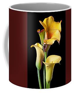 Four Calla Lilies Coffee Mug