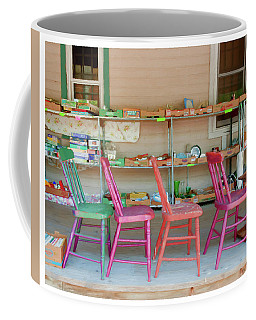 Coffee Mug featuring the photograph Four Chairs by Trey Foerster