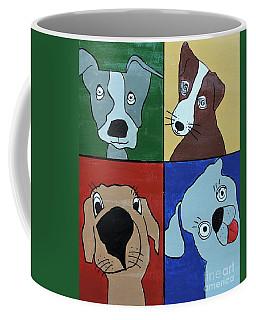 Four Dogs Coffee Mug by Sean Brushingham
