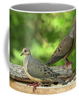 Four Doves In Search Of A Theme Coffee Mug by Jim Moore
