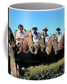 Four Gauchos In Argentina Coffee Mug