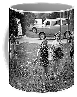Four Girls Racing, 1972 Coffee Mug
