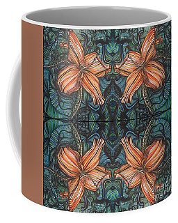 Four Lilies Looking In Coffee Mug