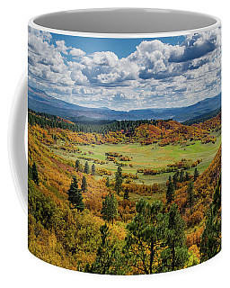 Coffee Mug featuring the photograph Four Mile Road Peak Color by Jason Coward