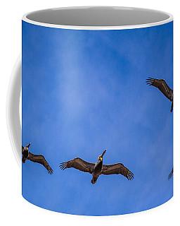 Four Pelicans Coffee Mug