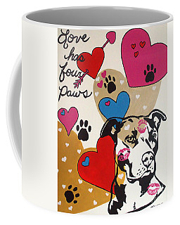 Four Pitty Paws Coffee Mug