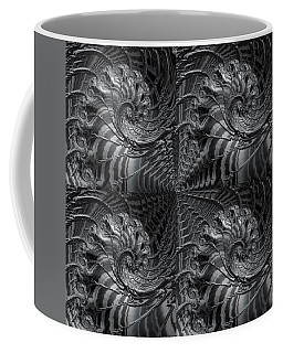 Coffee Mug featuring the digital art Four Square Fractal by Kathy Kelly