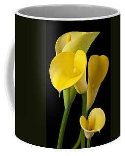 Four Yellow Calla Lilies Coffee Mug by Garry Gay