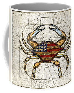 Fourth Of July Crab Coffee Mug
