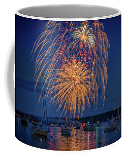 Coffee Mug featuring the photograph Fourth Of July In Boothbay Harbor by Rick Berk