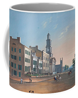 Coffee Mug featuring the painting Fourth Street. West From Vine by John Caspar Wild
