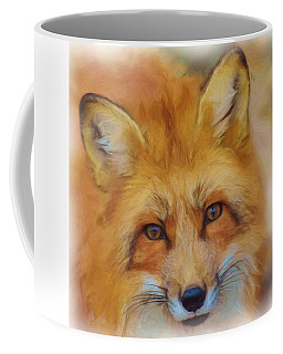 Fox Face Taken From Watercolour Painting Coffee Mug