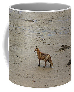 Coffee Mug featuring the pyrography Fox Named Hunter by Donald C Morgan