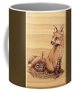 Fox Pup Coffee Mug by Ron Haist
