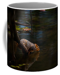 Fox Squirrel Drinking Coffee Mug