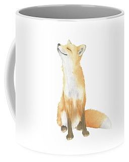 Fox Watercolor Coffee Mug by Taylan Apukovska