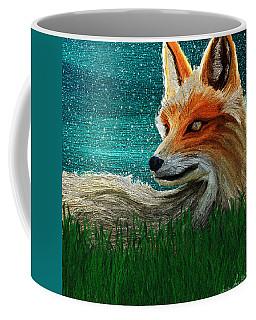 Coffee Mug featuring the digital art Foxxy by Iowan Stone-Flowers
