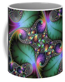 Fractal Art With Jewel Colors Horizontal Coffee Mug