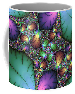 Fractal Art With Jewel Colors Horizontal Coffee Mug by Matthias Hauser