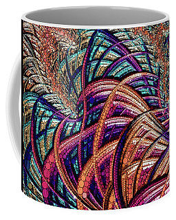 Coffee Mug featuring the painting Fractal Farrago by Susan Maxwell Schmidt