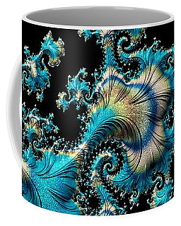 Fractal Filigree Blue Coffee Mug