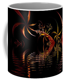 Fractal Fireworks Reflections Coffee Mug