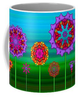 Whimsical Fractal Flower Garden Coffee Mug