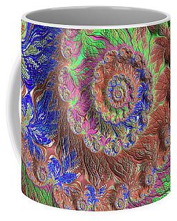 Coffee Mug featuring the digital art Fractal Garden by Bonnie Bruno
