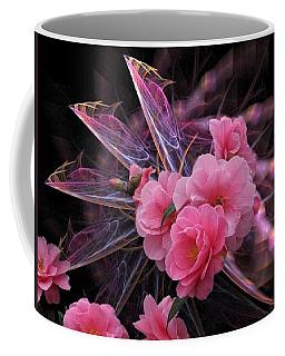 Fractal Meets Camellia  Coffee Mug