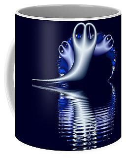 Fractal Peeble Ghosts Coffee Mug