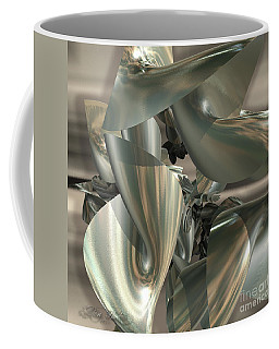 Coffee Mug featuring the digital art Fractal Ribbons by Melissa Messick