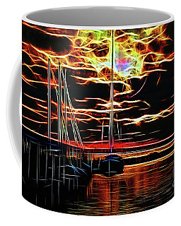 Coffee Mug featuring the photograph Fractal Shine by Diana Mary Sharpton