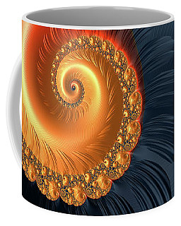 Fractal Spiral With Warm Orange And Red Tones Coffee Mug