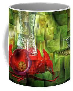 Fractured Hummingbird Coffee Mug