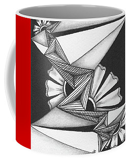 Coffee Mug featuring the drawing Fractured by Jan Steinle