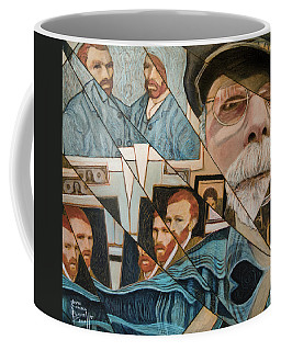 Coffee Mug featuring the painting Fractured Lives by Ron Richard Baviello