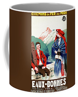 Coffee Mug featuring the mixed media France Restored Vintage Travel Poster by Carsten Reisinger