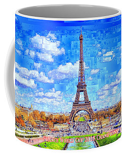 Coffee Mug featuring the digital art France - Russia World Cup Champions 2018 by Rafael Salazar