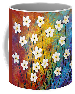 Coffee Mug featuring the painting Frangipani Explosion by Teresa Wing