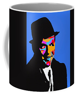 Coffee Mug featuring the drawing Frank Feeling Blue by Robert Margetts