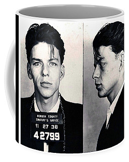 Frank Sinatra Mug Shot Horizontal Coffee Mug by Tony Rubino