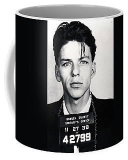 Frank Sinatra Mug Shot Vertical Coffee Mug by Tony Rubino