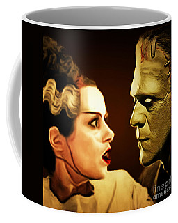Frankenstein And The Bride I Have Love In Me The Likes Of Which You Can Scarcely Imagine 20170407 Sq Coffee Mug