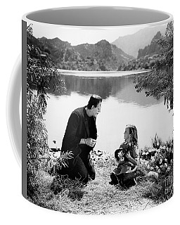 Frankenstein By The Lake With Little Girl Boris Karoff Coffee Mug