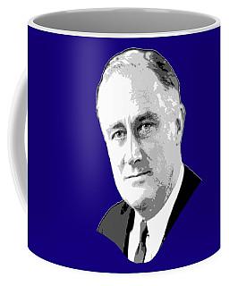 Franklin D. Roosevelt Grayscale Pop Art Coffee Mug