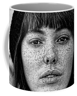 Freckle Face Closeup  Coffee Mug by Jim Fitzpatrick
