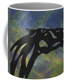 Fred - Abstract Horse Coffee Mug