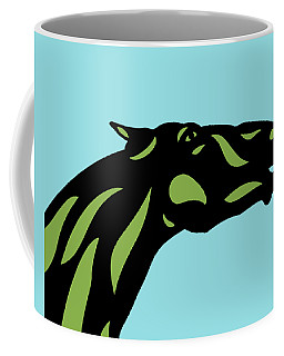 Fred - Pop Art Horse - Black, Greenery, Island Paradise Blue Coffee Mug