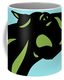 Fred - Pop Art Horse - Black, Greenery, Island Paradise Blue Coffee Mug