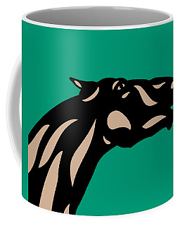 Fred - Pop Art Horse - Black, Hazelnut, Emerald Coffee Mug